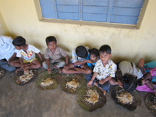 Food Distribution in Donkada Village, Andhra Pradesh